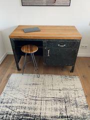 Antike Industrie Werkbank Schreibtisch mit