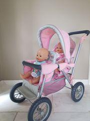 Baby Born Kinderwagen Doppelsitzer