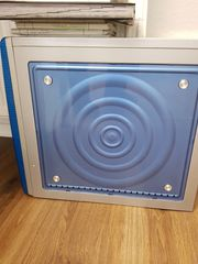 Computer Gehäuse cooles Muster blau