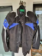 Motorradjacke mit Protektoren Gr 48