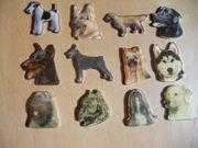 Plakette Tiermotiv verschiedene Hunderassen