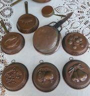 Antike Kupfer-KuchenForm Vintage Backform Gugelhupf