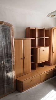 Wohnwand Wohnzimmerschrank aus Massivholz