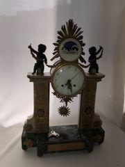 alte Uhr Marmorsockel sehr schwer