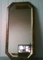 Spiegel Achteckig gold antik