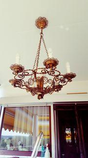 Sehr Alte schöne Kupfer Lampe