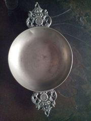 Antiker Zinnteller - Durchmesser ca 18