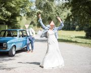 Brautkleid mit tiefem Rückenausschnitt Stil