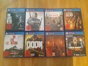 PS4 Spielesammlung
