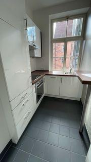 Wertige Küche Hochglanz Weiß Geräte
