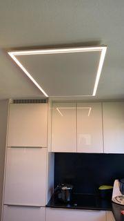 Deckenheizung mit LED Licht die