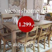 Ausziehbarer Esstisch Hartholz Küchentisch 160-260