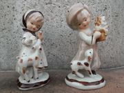 Porzellanfiguren-Paar Junge Mädchen Vintage