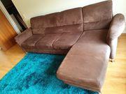 Couch- Garnitur 3-Sitzer mit Ottomane