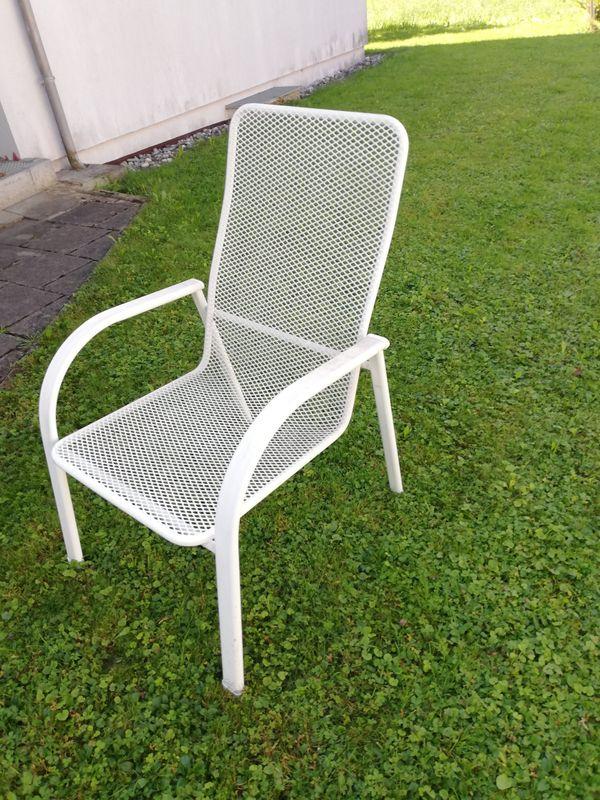 6 Gartenstühle mit Rückenlehne