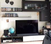 Wohnzimmerwand TV Möbel schwarzbraun