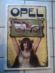 Opel Poster Plakat - Oldtimer - Motorwagen -