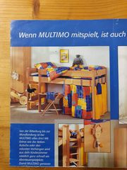 Multimo Spielbett mit Leiter Lattenrost