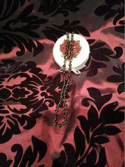 Handgeknotete Perlenkette aus Rauchquarzperlen