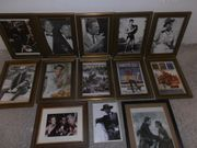 Bilder im Holzbilderrahmen gold braun