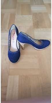 Tamaris Pumps Schuhe in Jeansoptik