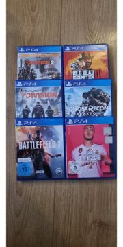 playstation 4 Spiele 6 games