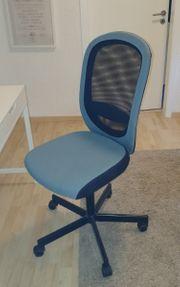 Ikea Schreibtischstuhl Flintan in schwarz-türkis
