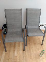 4xGartenstühle 2 davon Kettler weiß