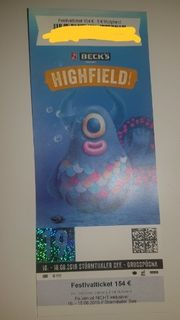 1 Highfield Ticket