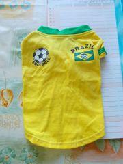 Hundetrikot Brazil gelb Gr S