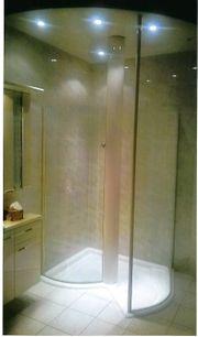 neuwertige weisse Duscholux Designer Dusche
