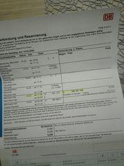 3 Fahrkarten mit ICE von