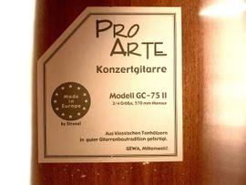 Gitarren/-zubehör - Kindergitarre Pro-Arte GC-75 II dreiviertel