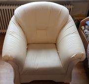 1-2-3 Sitzgarnitur Kunstleder Wie neu