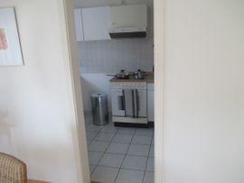 Küchenzeilen, Anbauküchen - Einbauküche weiß mit Stahlgriffen