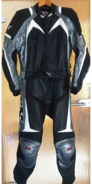 IXS Motorradkombi Racing-Team schwarz-graphit-weiß