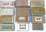 Alte Zigarrenkisten Konvolut 12 Stück