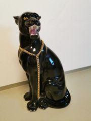 Panther Deko aus Keramik