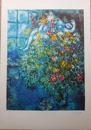 ---MARC CHAGALL - Bouquet Ardent ---