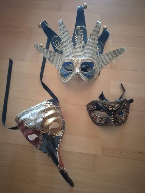 3 x Venezianische Masken