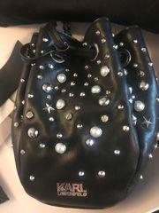 Karl Lagerfeld Swarovski Bucket Bag