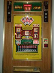 Geldspielautomaten Superjoker 70er Jahre auf