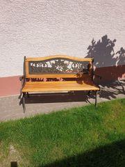 Gartenbank Schmiedeeisen Holz Platane Parkbank