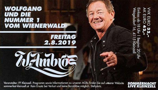Konzertkarten Wolfgang Ambros