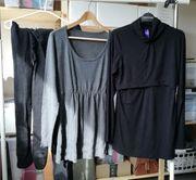 Umstandskleidung SET 2x Strumpfhosen Tunika
