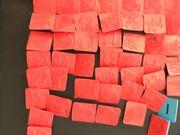 55 Stk Gummi Stempel