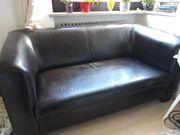Zu verschenken 2-sitzige Couch dunkelbraun