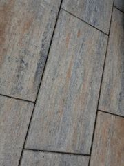 Terrassenplatten Muschelkalk Beton modern