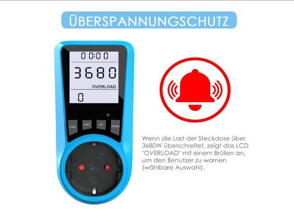 Stromkostenmessgerät Stromzähler Leistungsmessgerät NEU