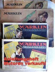 3 alte Märklin Metallbau Hefte -